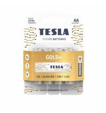 Baterija Tesla AA Gold+ Alkaline LR06 2700 mAh 4 vnt.