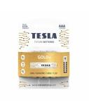 Baterija Tesla AAA Gold+ Alkaline LR03 1250 mAh 4 vnt.