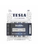 Baterija Tesla AA Silver+ Alkaline LR06 2600 mAh 4 vnt.
