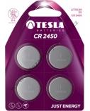 Baterija Tesla CR2450 Lithium 540 mAh 4 vnt.