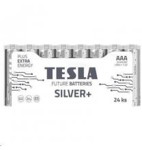 Baterija Tesla AAA Silver+ Alkaline LR03 1150 mAh 24 vnt.