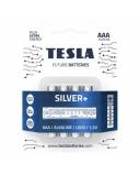 Baterija Tesla AAA Silver+ Alkaline LR03 1150 mAh 4 vnt.