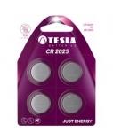 Baterija Tesla CR2025 Lithium 165 mAh 4 vnt.
