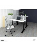 """Stok-sėsk tipo stalas """"Up Up"""", aukštis reguliuojamas elektra, juodas rėmas, baltas stalviršis, 2 varikliai"""