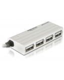 DELOCK HUB USB2.0 4 Port ext. ZSlimZ