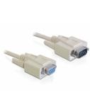 DELOCK Cable serial Sub-D9 ma / fe 2m