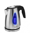 ECG RK 1740 kettle 1,7l; 2000 W; Removable and washable limescale filter; Stainless steel design