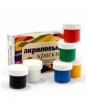 Akrilinių dažų rinkinys Olki Decor, 20 ml, (6)  1306-205
