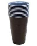 Stiklinė, atspari šilumai, ruda, plastikinė, 200ml (100)  2101-004