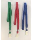 Dirželis identifikatoriui, mėlynas, su plastikiniu segtuku  0613-018
