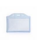 Dėklas asmens kortelei 85x54mm 2K-H,dvigubas, skaidrus, mėlynas, horizontalus  0613-025