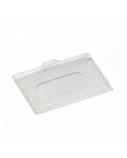 Identifikatoriaus kortelei dėklas, kietas, horizontalus, 56x90 mm (1)  0613-022