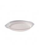Vienkartinė lėkštė, balta, plastikinė, 16cm 100vnt.