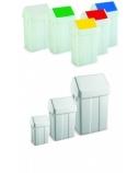 Šiukšlių dėžė su svyruojančiu baltu dangčiu Max, 12l (4 vnt.)