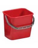 Plastikinis kibiras, raudonas, 12l