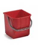 Plastikinis kibiras, raudonas, 15l