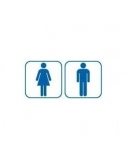 Lipdukinis ženklas WC M/V komplektas, 100mm x 100mm  0616-008