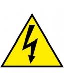 Lipdukinis ženklas Atsargiai, elektros smūgio pavojus, 160mm x 160mm  0616-013