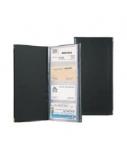 Albumas vizitinėms kortelėms Biurfol (60), juodas, 12x24cm  1007-018