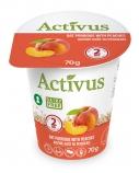 """Greitai paruošiama avižinė košė su persikais """"Activus"""" indelyje, 16 pak. po 70g"""