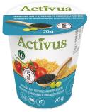 """Greitai paruošiamas kuskusas su daržovėmis ir juodagrūdžių sėklomis """"Activus"""" indelyje, 16 pak. po 70g"""