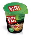 """Greitai paruošiami makaronai vištienos skonio """"Sun yan"""" indelyje, 16 pak. po 65g"""