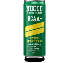 """Citrinų ir šeivamedžio skonio funkcinis gėrimas """"Nocco"""" su BCAA, be cukraus, 24 pak. po 330ml, (kaina nurodyta su užstatu už tarą)"""