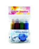 STANGER dekoravimo žymeklių Gliter Design rinkinys 4x25 ml, 960032
