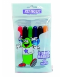 STANGER Flomasteriai tekstilei T-SHIRT, 6 spalvos, 430011