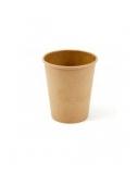 Vienkartiniai popieriniai puodeliai karštiems gėrimams, 250 ml, (pak.- 50 vnt.), rudi