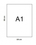 Popierius braižybai, A1, 250 g, 640x900 mm, baltas, (1)  0708-001