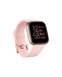 Fitbit Versa 2 Smart watch, NFC, OLED, Touchscreen, Heart rate monitor, Activity monitoring 24/7, Waterproof, Bluetooth, Wi-Fi, Petal/Copper Rose Aluminum