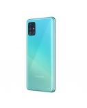 "Samsung Galaxy A51 Blue, 6.5 "", Super AMOLED, 1080 x 2400, Exynos, 9611, Internal RAM 4 GB, 128 GB, microSD, Dual SIM, Nano-SIM, 3G, 4G, Main camera 48+12+5+5 MP, Secondary camera 32 MP, Android, 10.0, 4000 mAh"