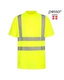 Marškinėliai PESSO Hi-vis, geltoni, S dydis
