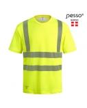 Marškinėliai PESSO Hi-vis, geltoni (50% medv.50% pol.), S dydis