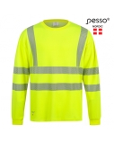 Marškinėliai ilgomis rankovėmis PESSO Hi-vis, geltoni, L dydis