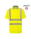 Polo marškinėliai PESSO Hi-vis, geltoni, 4XL dydis