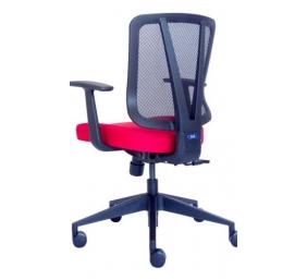 """Ergonominė kėdė """"Dalarö"""" su tinklelio atlošu bei aptraukta aukštos kokybės audiniu, minkšto poliuretano sėdyne, juoda"""