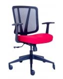 """Ergonominė kėdė """"Dalarö"""" su tinklelio atlošu bei aptraukta aukštos kokybės audiniu, minkšto poliuretano sėdyne, pilka"""