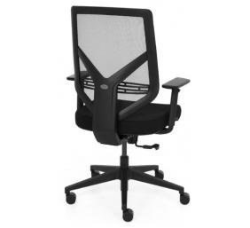 """Ergonominė, tvirta biuro kėdė """"Saltvik"""" su tvirto tinkliuko atlošu bei reguliuojamo aukščio porankiais, juoda"""