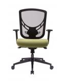 """Ergonomiška universali biuro kėdė """"Visby"""" su tinklelio atlošu, gobelenu aptraukta sėdyne ir reguliuojamo aukščio porankiais, juoda"""