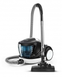 Polti Forzaspira Lecologico Aqua Allergy Natural Care Vacuum Cleaner  PBEU0108 With water filtration system, Black/ white, 750 W, 1 L, A, HEPA filtration system,