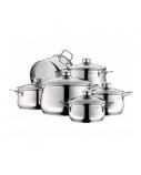 WMF 6-piece Diadem Plus pot set, Stainless steel