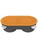 Morphy richards Mico Egg Maker Heatwave Technology Microwave Cookware, Orange / grey, Dishwasher proof