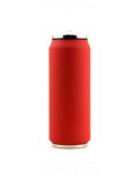 Yoko Design Isotherm Tin Can 500 ml, Soft touch red
