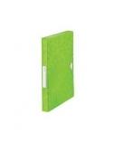 Aplankas-dėklas su gumele Leitz WOW, A4/30 mm, plastikinis, švieisiai žalias