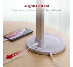 TaoTronics Stalinis šviestuvas TT-DL13 LED su USB, Sidabrinis