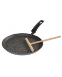 Stoneline Pan 9195 Crepe, Diameter 24 cm, Suitable for induction hob, Fixed handle, Anthracite