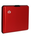 Ögon Big Stockholm 95 g, Red, Aluminium, Wallet / Credit card holder in aliuminium, RFID Safe : protects your cards from electronic data theft. Holds up to 10 cards + ID card, driving licence.