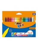 BIC Vaškinės spalvotos kreidelės WAX CRAYON 24 spalvų rinkinys 8297721